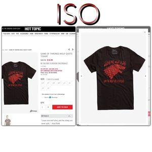 ISO Game of Thrones Direwolf T-Shirt